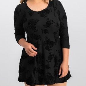 Planet Gold junior L fit and flare mini dress